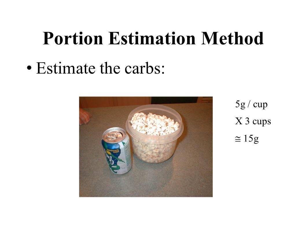 Portion Estimation Method