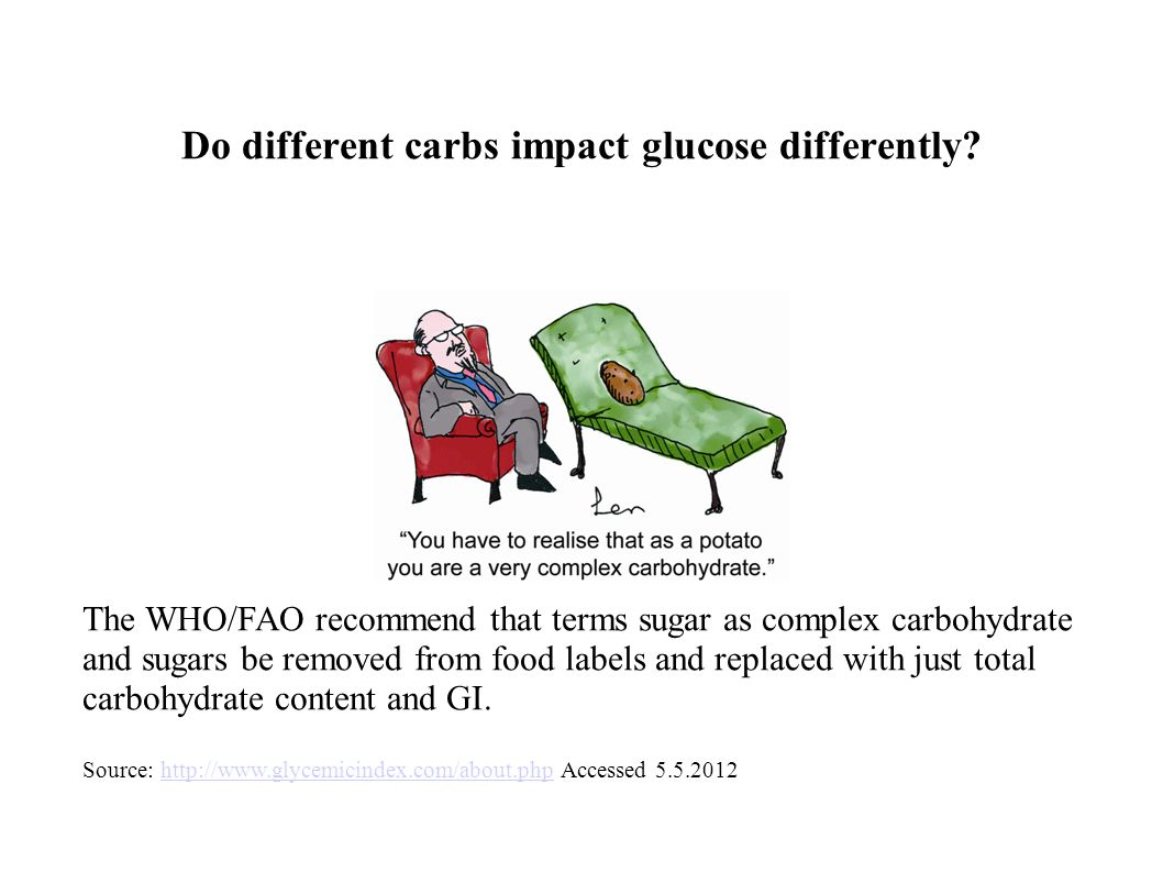 Do different carbs impact glucose differently