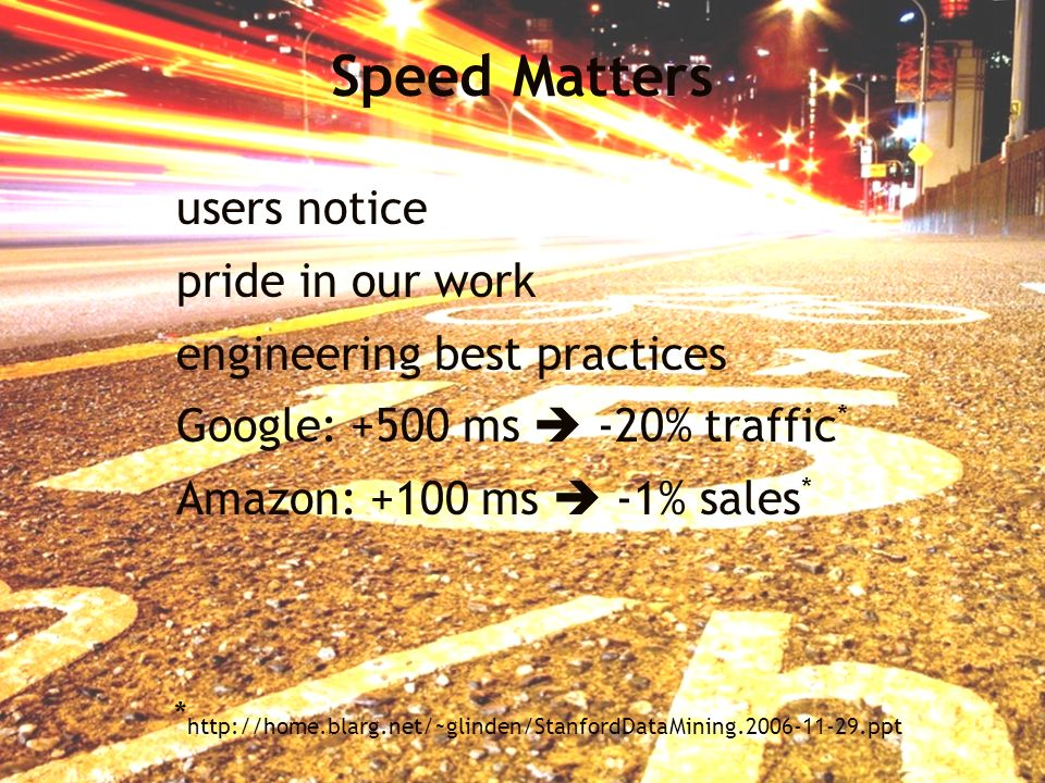 Speed Matters users notice pride in our work
