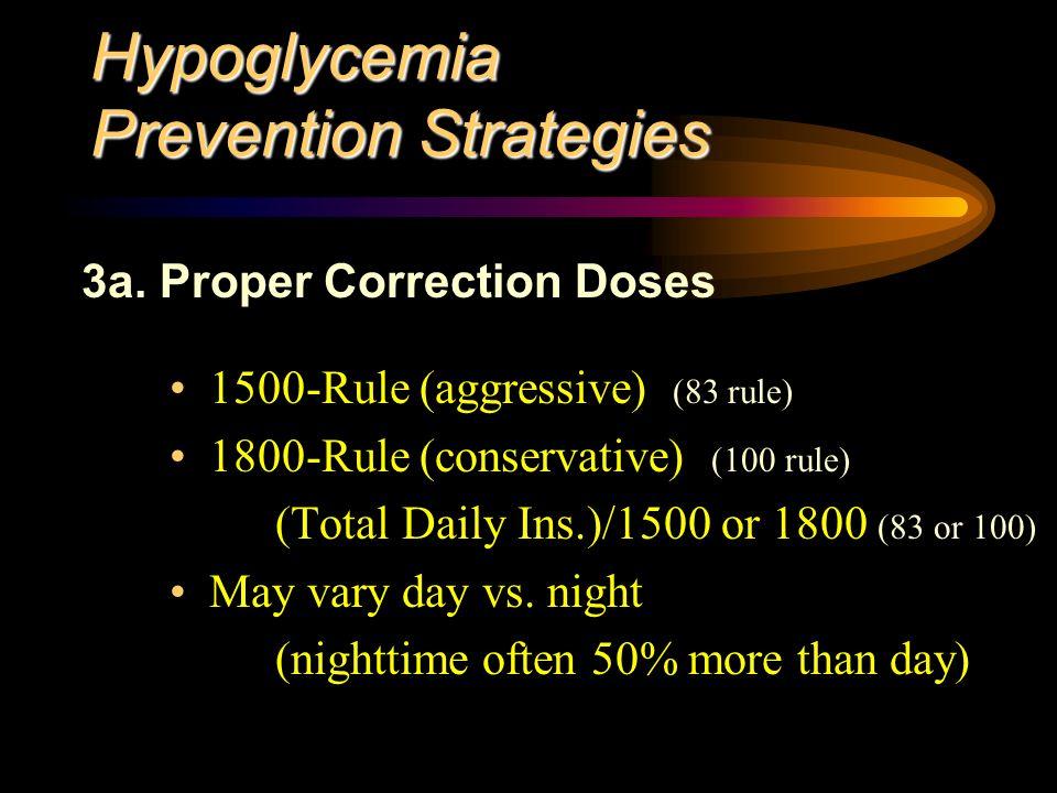 Hypoglycemia Prevention Strategies