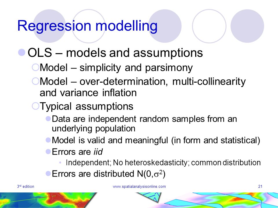 Regression modelling OLS – models and assumptions