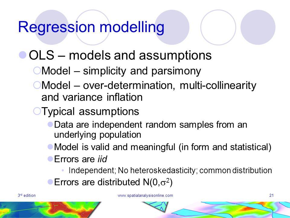 Regression modelling OLS – models and assumptions