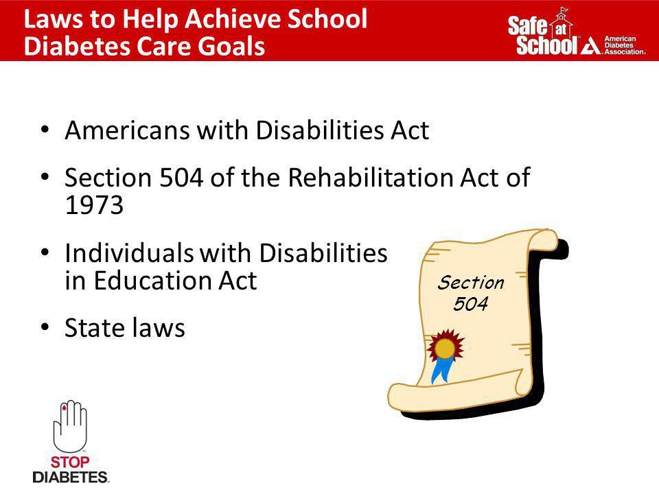 Laws to Help Achieve School Diabetes Care Goals