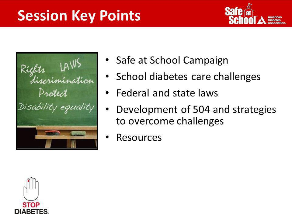 Session Key Points Safe at School Campaign