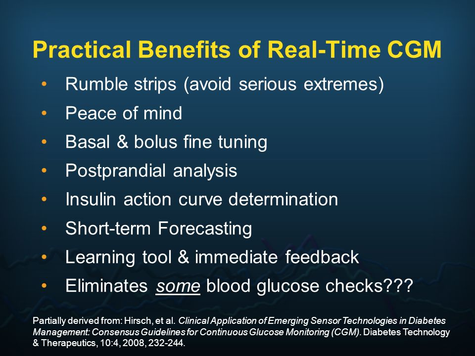 Practical Benefits of Real-Time CGM