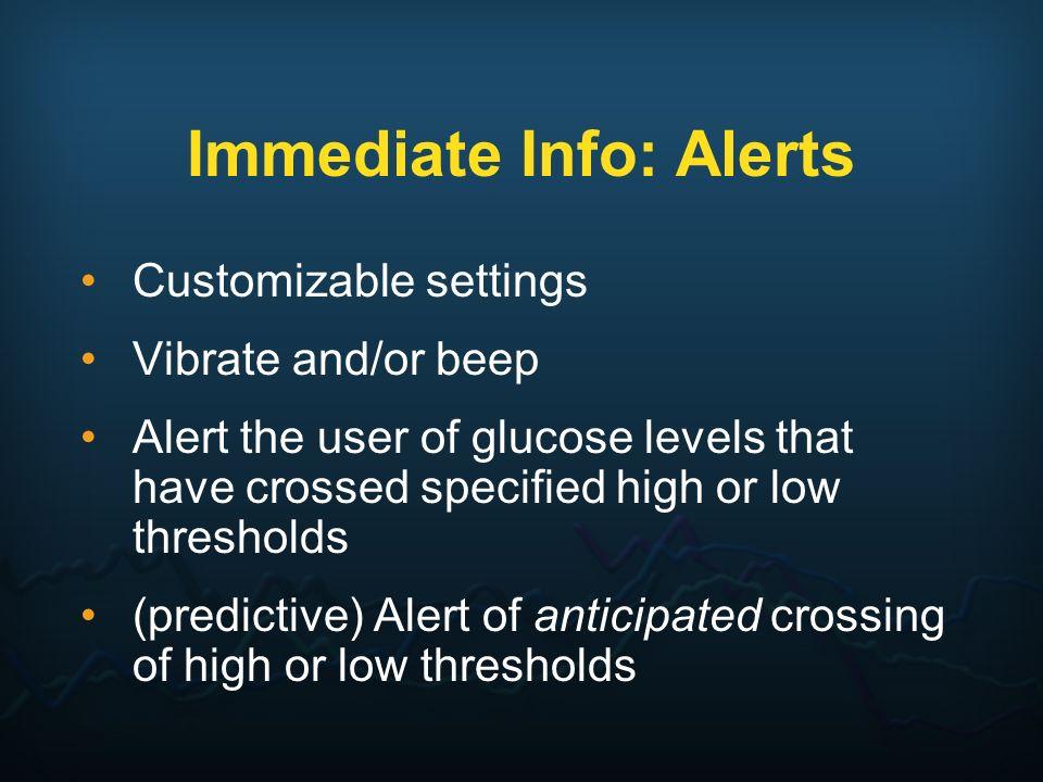 Immediate Info: Alerts