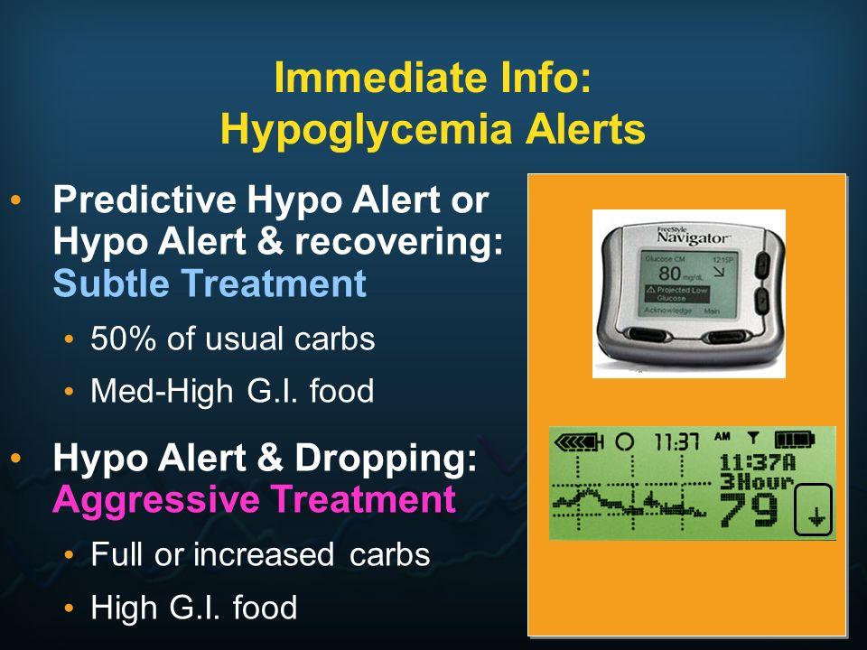 Immediate Info: Hypoglycemia Alerts