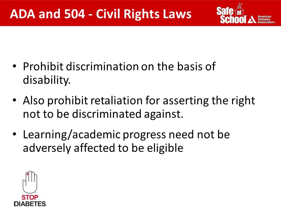 ADA and 504 - Civil Rights Laws