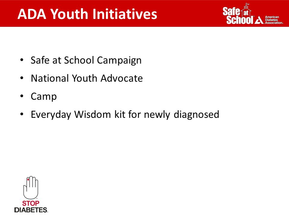 ADA Youth Initiatives Safe at School Campaign National Youth Advocate