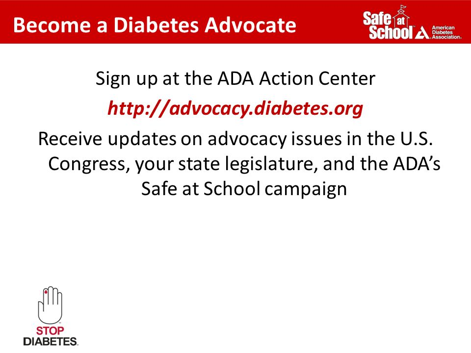 Become a Diabetes Advocate