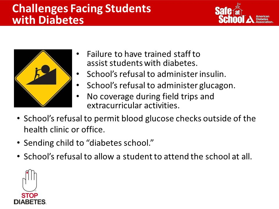 Challenges Facing Students with Diabetes
