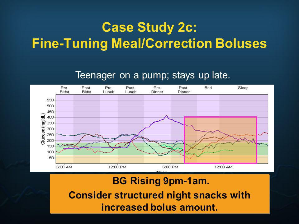 Case Study 2c: Fine-Tuning Meal/Correction Boluses