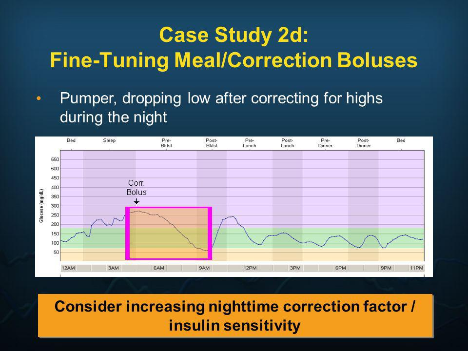 Case Study 2d: Fine-Tuning Meal/Correction Boluses