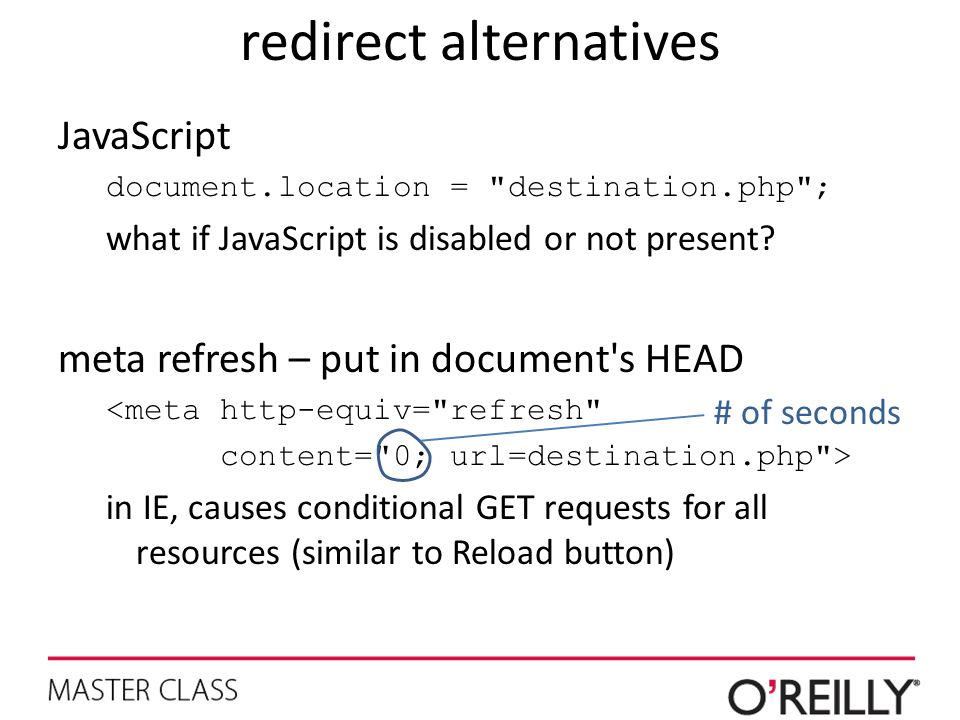 redirect alternatives
