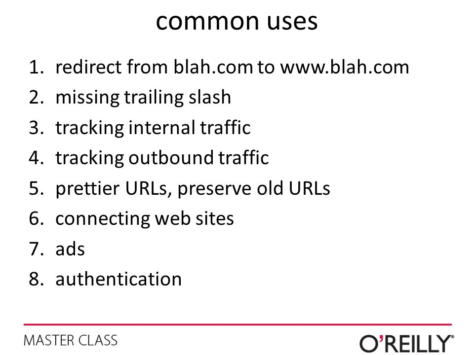 common uses redirect from blah.com to