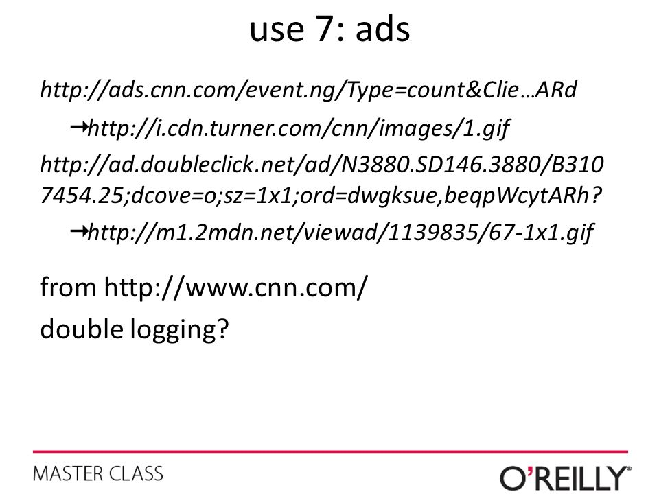 use 7: ads from   double logging