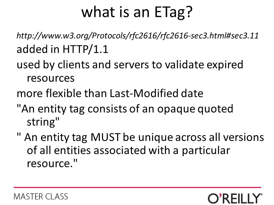 what is an ETag added in HTTP/1.1