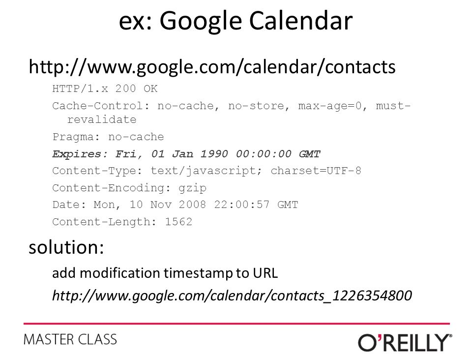 ex: Google Calendar   solution:
