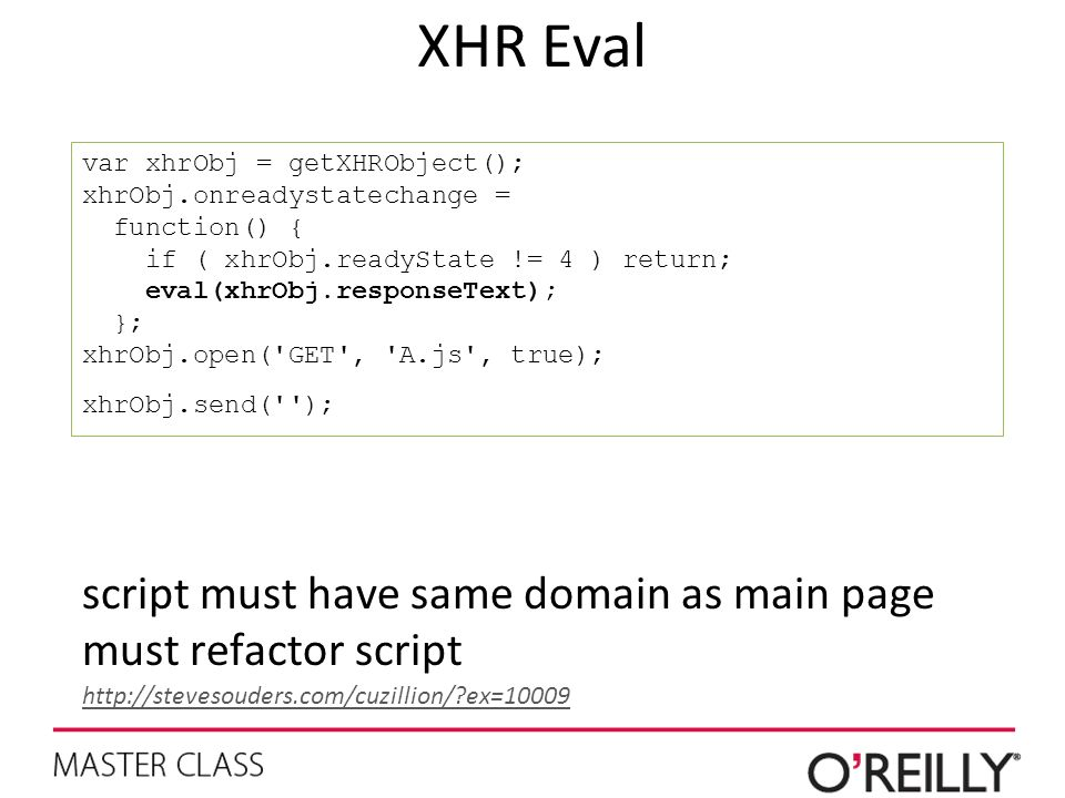 XHR Eval script must have same domain as main page