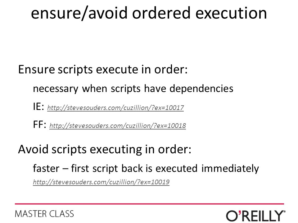 ensure/avoid ordered execution