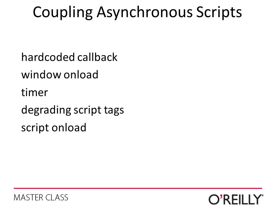 Coupling Asynchronous Scripts