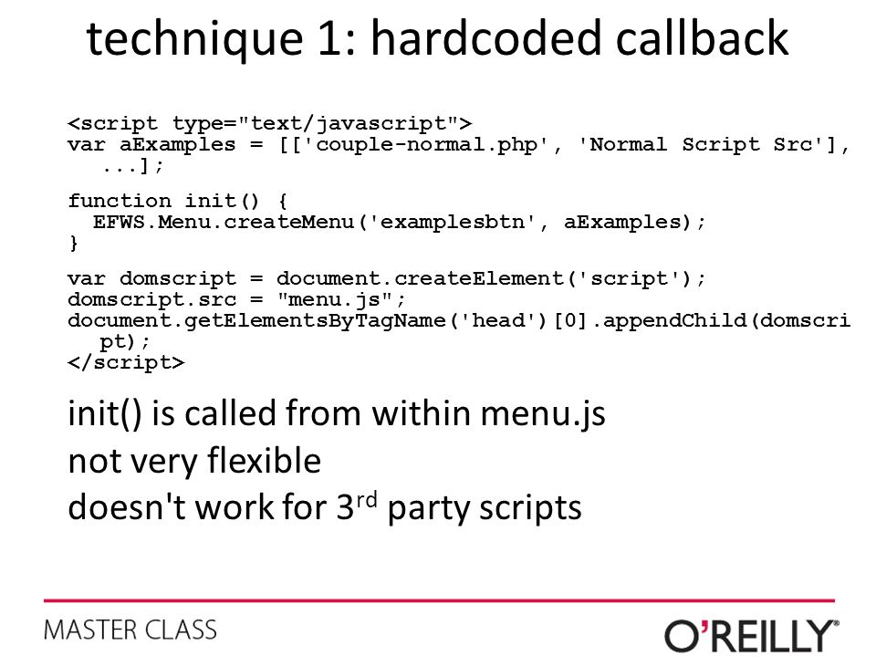 technique 1: hardcoded callback