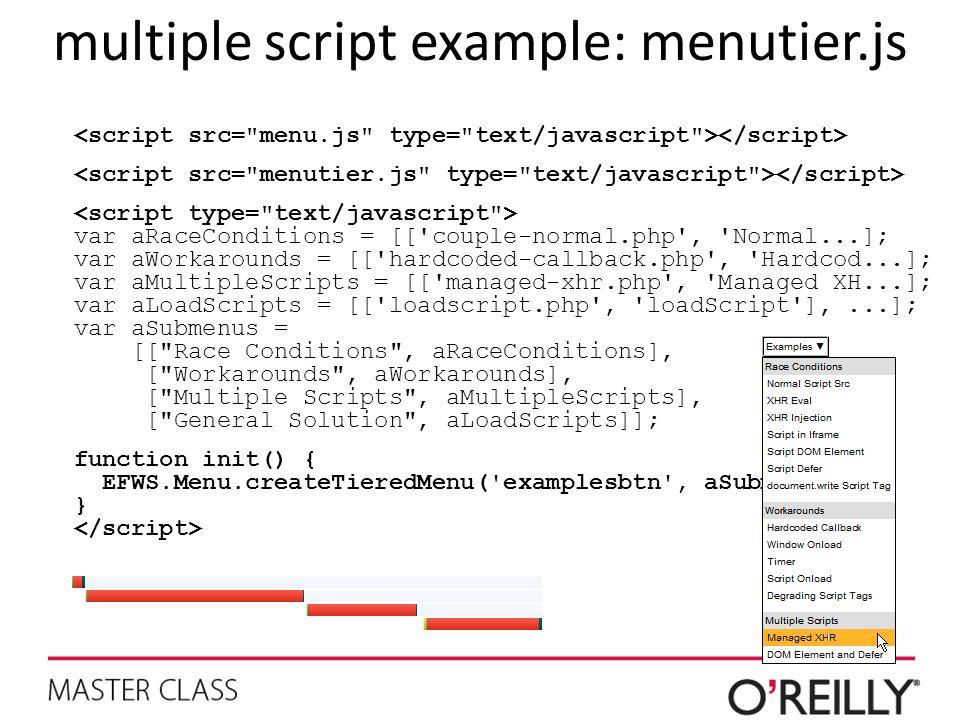multiple script example: menutier.js