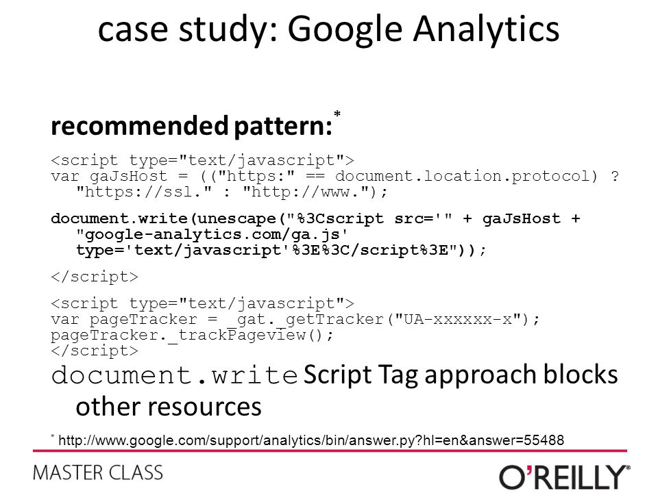 case study: Google Analytics