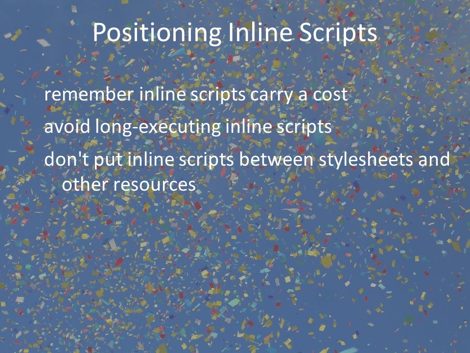 Positioning Inline Scripts