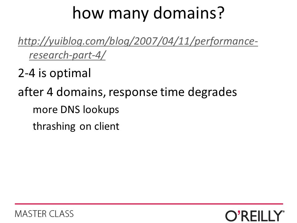 how many domains 2-4 is optimal