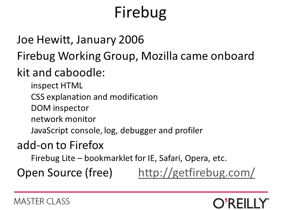 Firebug Joe Hewitt, January 2006