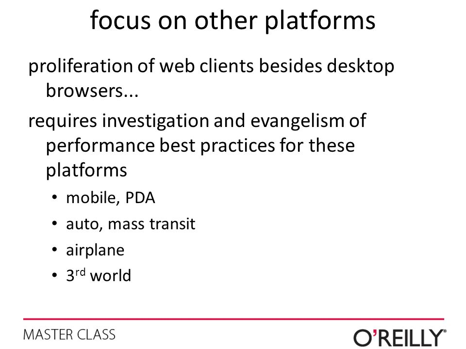 focus on other platforms