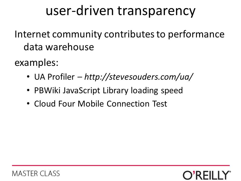 user-driven transparency