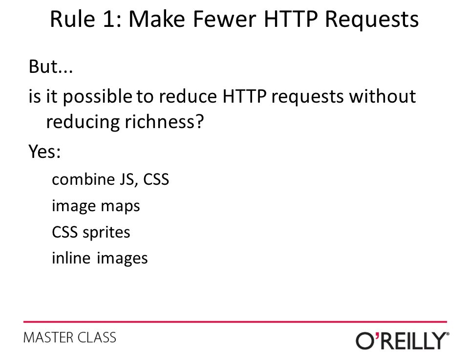 Rule 1: Make Fewer HTTP Requests