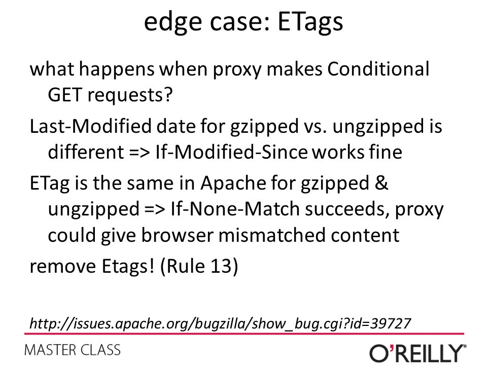 edge case: ETags what happens when proxy makes Conditional GET requests