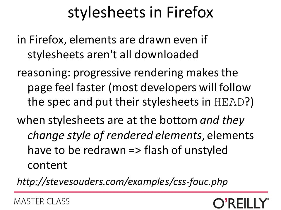 stylesheets in Firefox