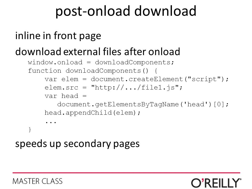 post-onload download inline in front page