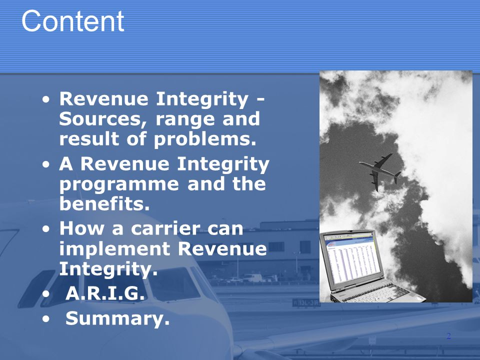 Content Revenue Integrity - Sources, range and result of problems.