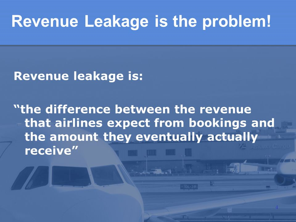Revenue Leakage is the problem!