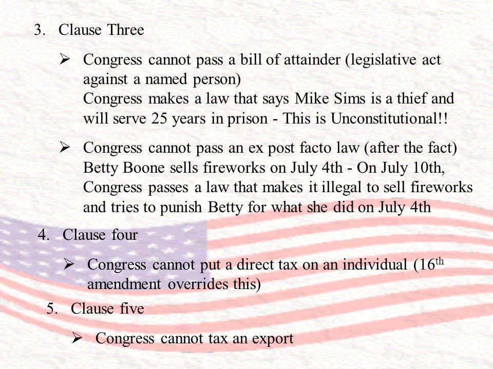 Clause Three