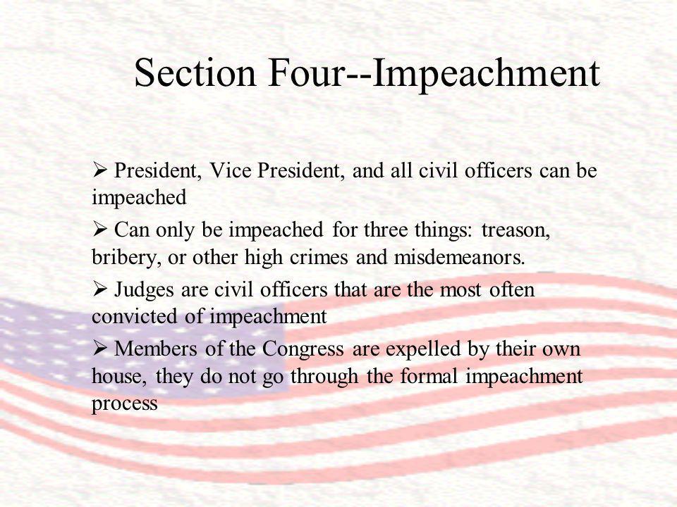 Section Four--Impeachment