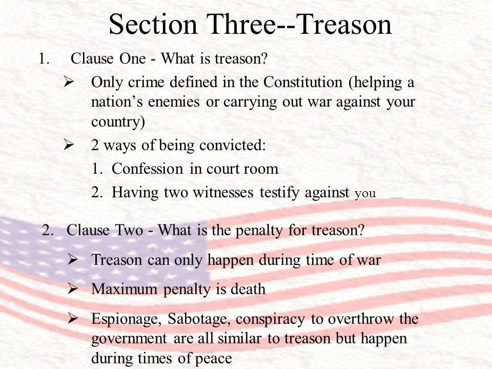 Section Three--Treason