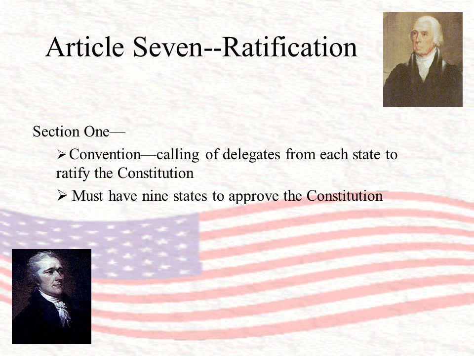 Article Seven--Ratification