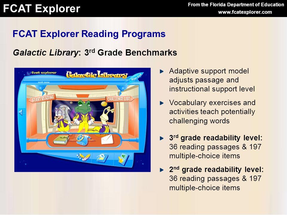 FCAT Explorer Reading Programs