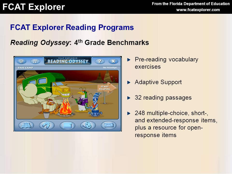 FCAT Explorer Reading Programs