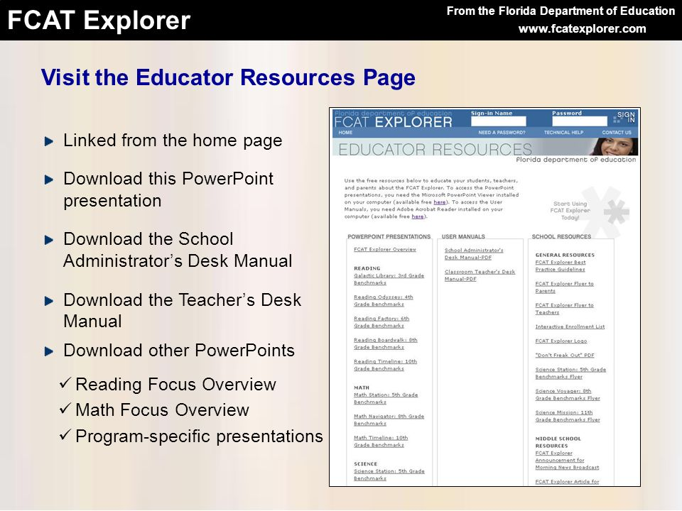 Visit the Educator Resources Page