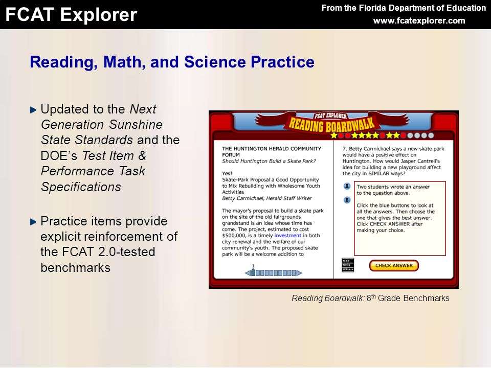 Reading, Math, and Science Practice