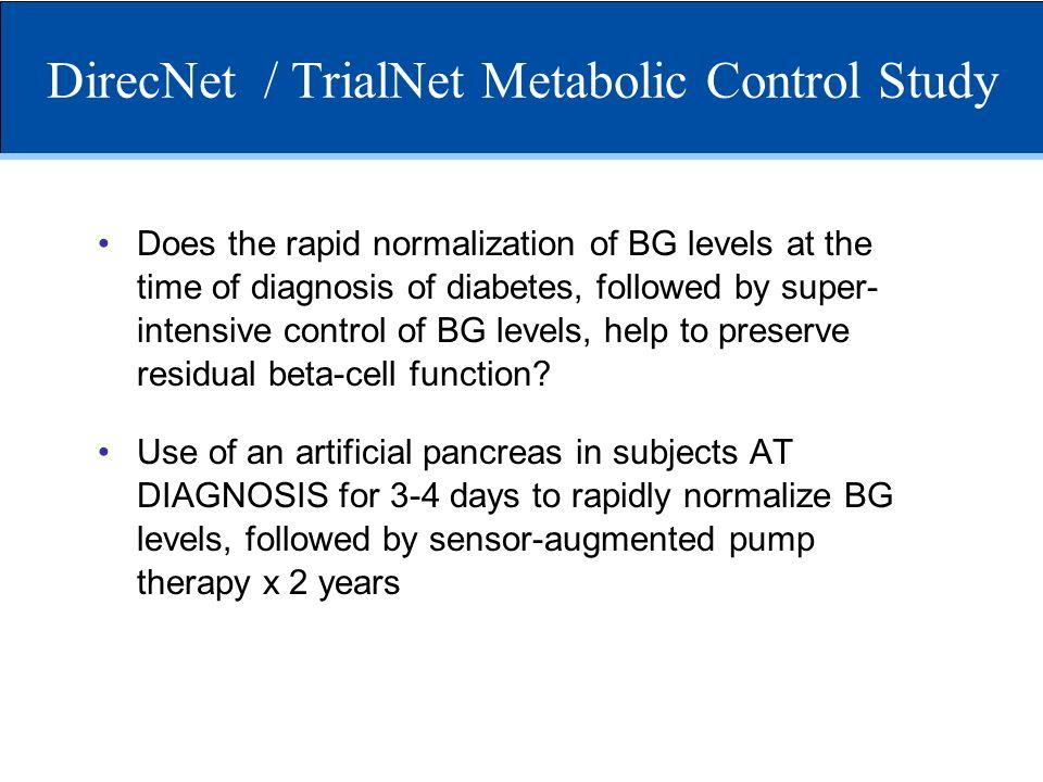 DirecNet / TrialNet Metabolic Control Study