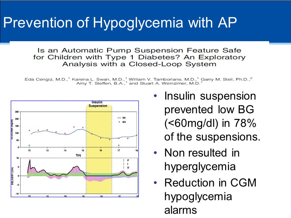 Prevention of Hypoglycemia with AP