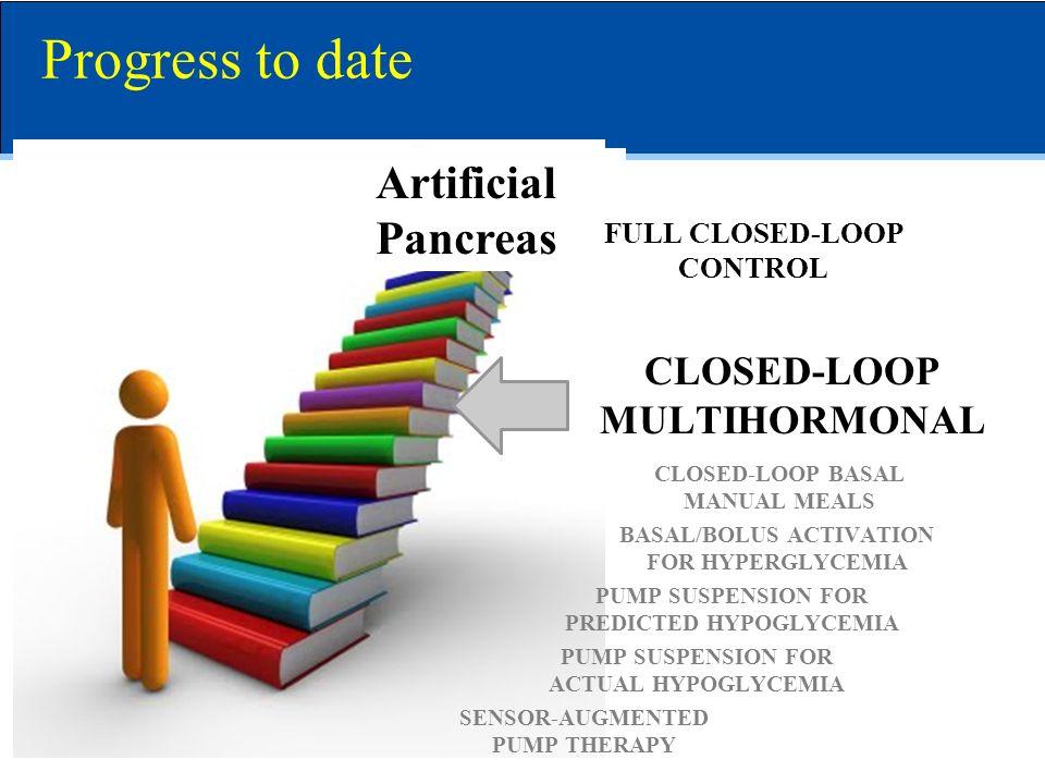 Progress to date Artificial Pancreas CLOSED-LOOP MULTIHORMONAL